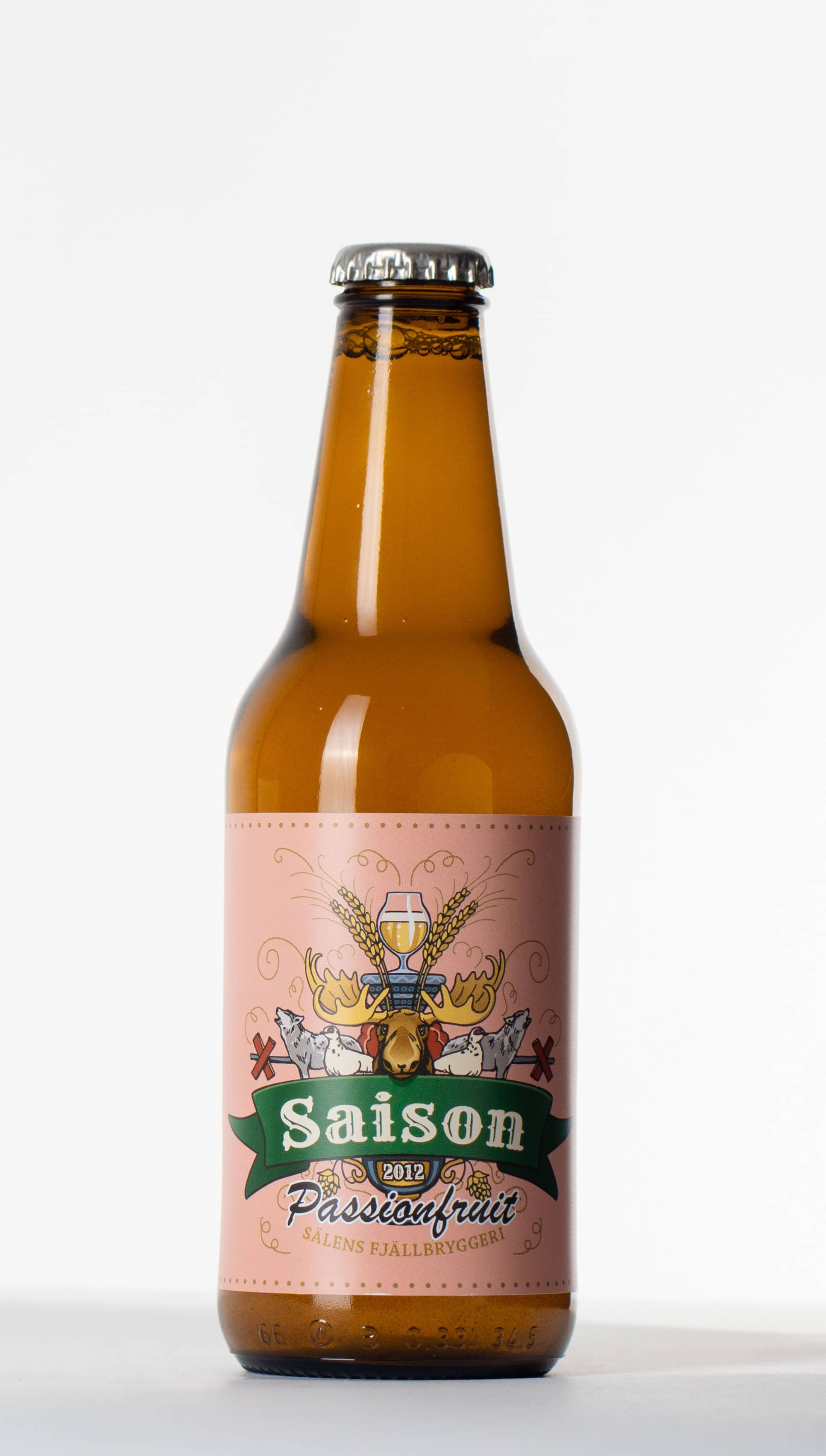 saison passionfrukt flaska, beer bottle
